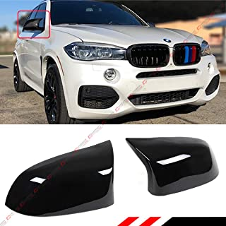 Cuztom Tuning Fits for 2014-2018 BMW X3 X4 X5 X6 Painted Glossy Black Side Mirror Cover Caps Replacement- M Style