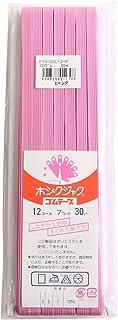 NBK カラー平ゴム 12コール 7mm幅×30m巻 ピンク F10-COL12-P