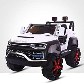 CGIIGI 2.4G Electric Children's Four-Wheel Drive Car Kids Drive Off-Road Super Large Car Sit People Toy Car Boy Girl Ride On Vehicles Swing RC Child Toy Car Birthday Gift (Color : White)