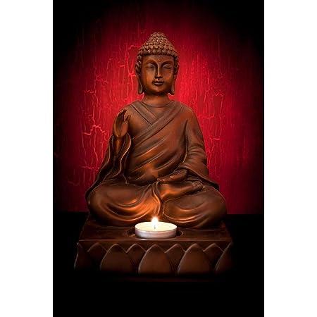 Pitaara Box Meditating Buddha Pose Canvas Painting Mdf Frame 14 X 21Inch