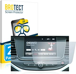 BROTECT 2x Schermbeschermer compatibel met Opel Grandland X Hybrid 2020 IntelliLink 5.0 Screen protector transparant