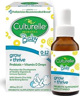 Culturelle Baby Grow + Thrive Probiotics + Vitamin D Drops   Supplements Good Bacteria Found in Breast Milk   Helps Promot...