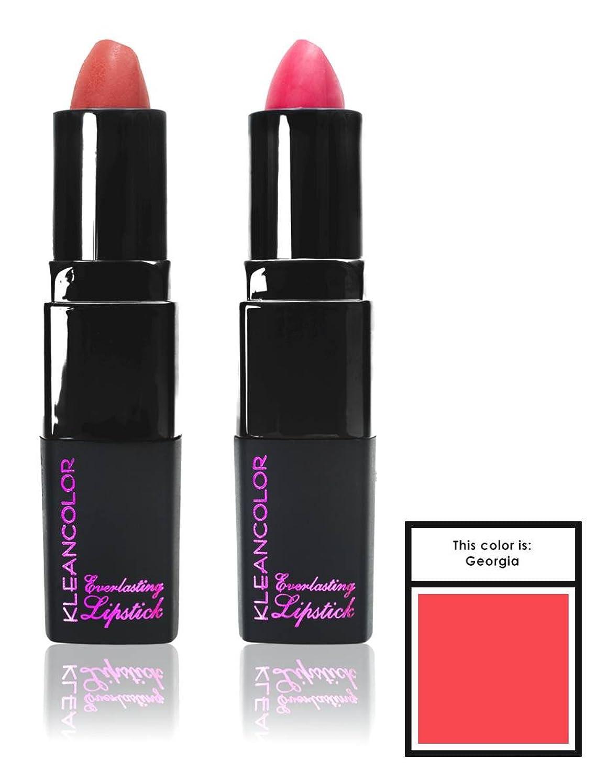 ポルノ石灰岩以下KLEANCOLOR Everlasting Lipstick - Georgia (並行輸入品)