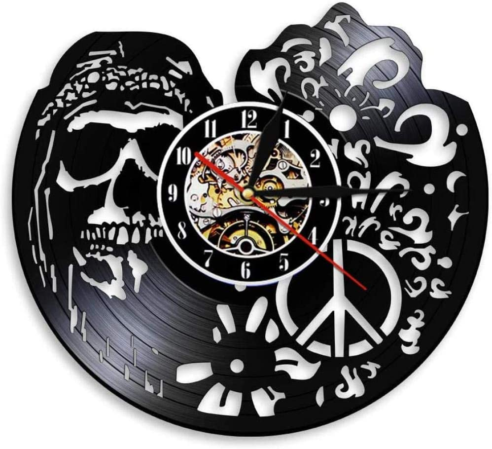 American Hipper Max 59% OFF Skull with Max 71% OFF Followers Clock Gothic Art Wall