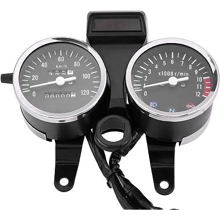Motorrad Drehzahlmesser Fydun Tachometer Kilometerzähler Led Backlight Motorrad Modifizierte Zubehör 12 V Dc Schwarz Silber Für Gn125 Auto