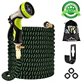 Gpeng 100ft Expandable Garden Hose, Upgraded Lightweight Expanding Collapsible Water Hose with 9
