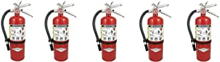 Amerex B402, 5lb ABC Dry Chemical Class A B C Fire Extinguisher, with Wall Bracket, 5 Pack