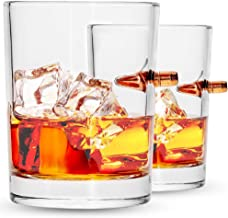 Lucky Shot .308 Real Bullet Handmade Whiskey Glass - Set of 2