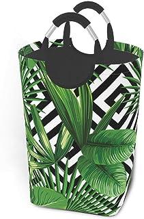 Liumt Imprimé Pliable été Exotique Jungle Plante Motif Tropical Panier de Rangement Panier à Linge, Sac de vêtements Sales...