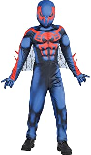 Boys Spider-Man 2099 Muscle Costume Compatible with Spiderman Theme
