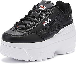 Fila Disruptor II Wedge Womens Black/White Trainers
