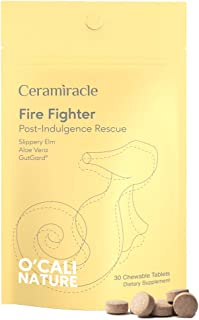 Ceramiracle O'Cali Nature Fire Fighter Supplement - Post-Indulgence Rescue - Gutguard Licorice Extract, Slippery Elm, Aloe...