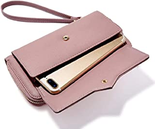 Oulm Mauve Colour Wallet with Phone Pocket for Women - (WA-4)