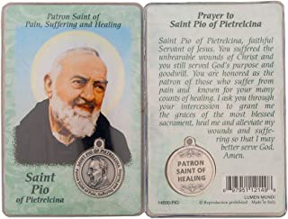 Saint St St. Pio of God Prayer Card Holy Card Cards Patronage Patron Healing Stress Problems with Medal