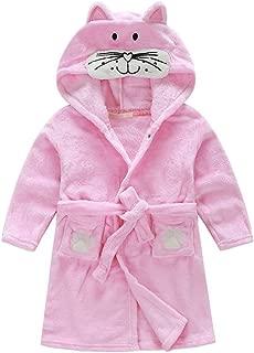 TAIYCYXGAN Little Girl's Boy's Coral Fleece Bathrobe Unisex Kids Robe Pajamas Sleepwear