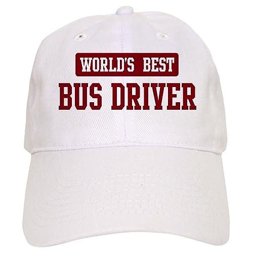 CafePress - Worlds best Bus Driver Cap - Baseball Cap with Adjustable  Closure 3bd8e399baf5