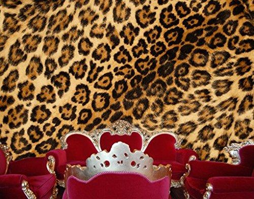 Apalis Selbstklebende Fototapete Jaguar Skin Tapete Jaguar Leoparden Fell Tier, Größe:380cm x 432cm