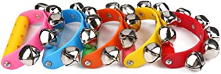 ZUINIUBI Alloy 5 Jingle Bells Sleigh Bells Instrument on Plastic Handle for Baby Kids Random Delivery