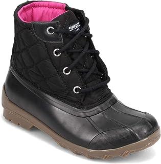 حذاء برقبة للأطفال من سبيري جيرلز - للأطفال الصغار والأطفال الكبار، أسود