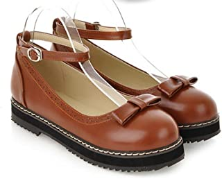 Women's Girl's Lolita Flat Low Top Japanese Students Maid Uniform Dress Shoes Oxford Shoes