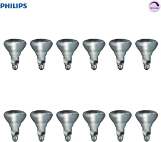 Philips Indoor BR30 Flood Light Bulb: 2710-Kelvin, 65-Watt, Medium Screw Base, Soft White, 12-Pack