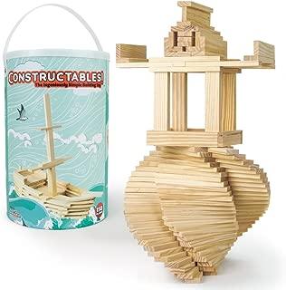 Imagination Generation Constructables! Natural Pine Wood Building Planks, 150pcs