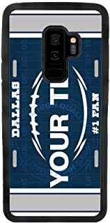 BleuReign(TM) Personalized Custom Name Football Dallas License Plate TPU Rubber Silicone Phone Case Back Cover for Samsung Galaxy S9 Plus