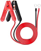 Nilight GA-ACC-01 2 Pcs 30A Alligator Clips Booster Jumper Cable for Car Battery Charging Charger, 6 mm Copper Terminal