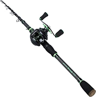 Sougayilang Fishing Rod Reel Combos with Telescopic Carbon Fishing Pole and Fishing Reel for Freshwater Bass Fishing