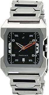 Fastrack Men Black Dial Stainless Steel Band Watch - T1474SM02