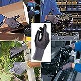 MAPA Professional Ultrane 553 - Guantes de trabajo para hombre, de nitrilo, color negro, para mecánico, constructores, jardinería, construcción, obrero, comerciante, talla 8, mediano (1 par)