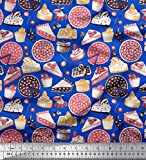 Soimoi Blau japanischer Kreppsatin Stoff Kuchenscheibe &
