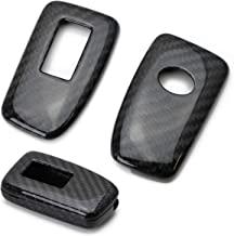 iJDMTOY (1) Real Carbon Fiber Gloss Black Key Fob Protective Cover Case For Lexus IS ES GS RC NX RX LX 200 250 350 Remote Key