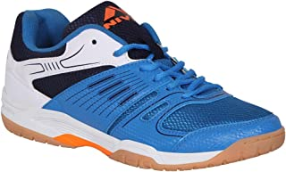 NIVIA Polyester Gel Verdict Badminton Shoes (Blue)