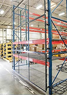 Wirecrafters - RackBack Wire Mesh Pallet Rack Enclosure - Back Panel 120