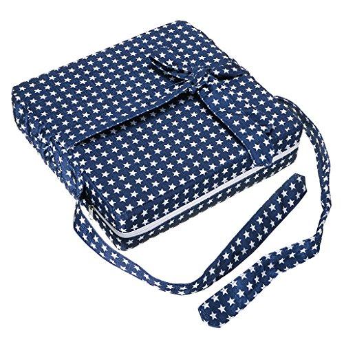 Btsky - Cuscino di rinforzo per bambini, smontabile, regolabile, lavabile, con cinghie per sedia da pranzo, per rinforzare il cuscino da viaggio
