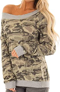 fb0fc6581c281 Pull Femme Sweat-Shirt Militaire,Koly Camouflage Tops Manches Longues  Sweatshirt Femme Haut à