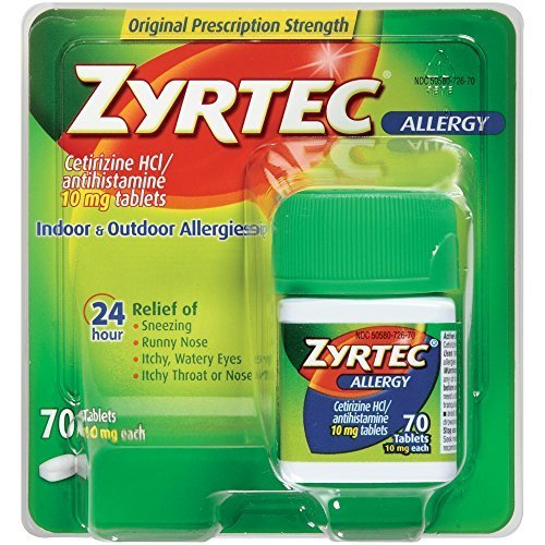 Zyrtec Allergy Relief Tablets, 70 Count by Zyrtec