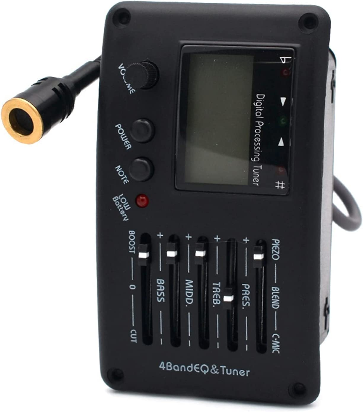 Acoustic Pickup 4-Band Guitar Tuner Equalizer Max 73% 40% OFF Cheap Sale OFF with and