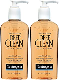 Neutrogena Deep Clean Daily Facial Cleanser with Beta Hydroxy Acid for Normal to Oily Skin, Alcohol-Free, Oil-Free & Non-C...