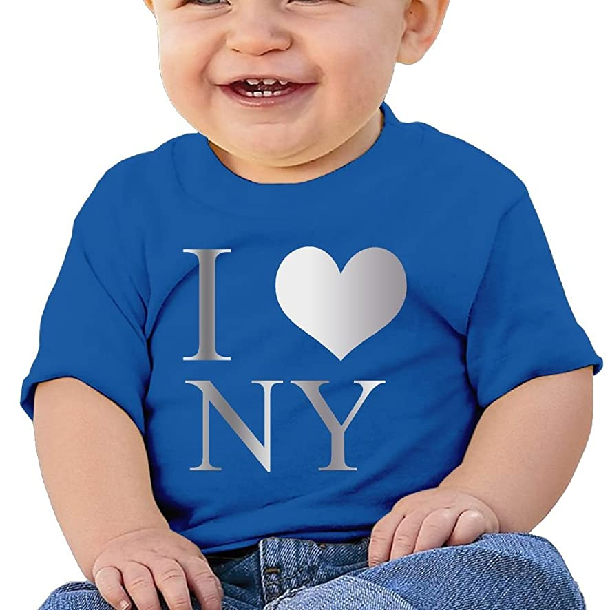 I Love NY New York Infants Toddlers T Shirts Boys Girls Short Sleeves 6-24 Months