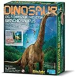 4MKidzlabs:DETERRE-Ton-Dinosaure(Brachiosaurus),SquelettedansUnBlocde plâtre,boîte17x22x6cm,7+
