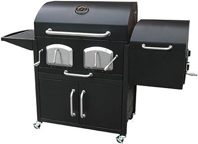 """Jur_Global Smoky Mountain Bravo Premium 26"""" Charcoal Grill and Smoker"""