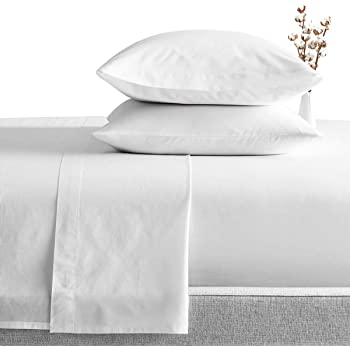 Queen White Solid 4 Piece Bed Sheet Set 1000 Thread Count 100/% Egyptian Cotton