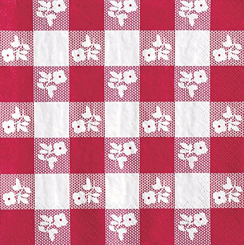 Creative Converting Red Gingham Luncheon Paper Napkins, 50 Count (Pack of 2)