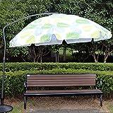 Parasol Déporté De Jardin De 220 Cm, Jardin Terrasse pour Café Salon De Thé Marché (4 Couleurs/sans Base) LMJN