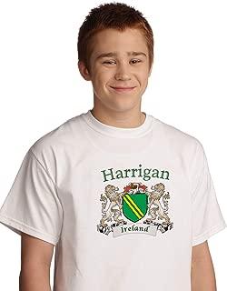Harrigan Irish coat of arms tee shirt in White