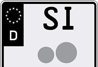 Ritter Mediendesign Aufkleber Motorrad Nummernschild Kennzeichen 2X EU Feld in Schwarz Waschstrassenfest UV Beständig