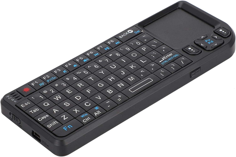 125 2.4G Mini Wireless Keyboard with Touchpad Mouse, 69 Keys USB Wireless Keyboard, 3-in-1 Multifunction UKB-100-RF USB Pocket Mini Wireless Keyboard for PC/Tablets/TV/Xbox/Smartphones