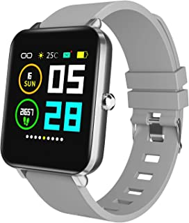 """Zagzog Men Women Square Multifunction Smart Watch, Compatible for Android iOS Phones, 1.54"""" Large Screen, All-Day Activity Tracking, IP68 Waterproof, Step Counter, Ultra-Long Battery Life"""